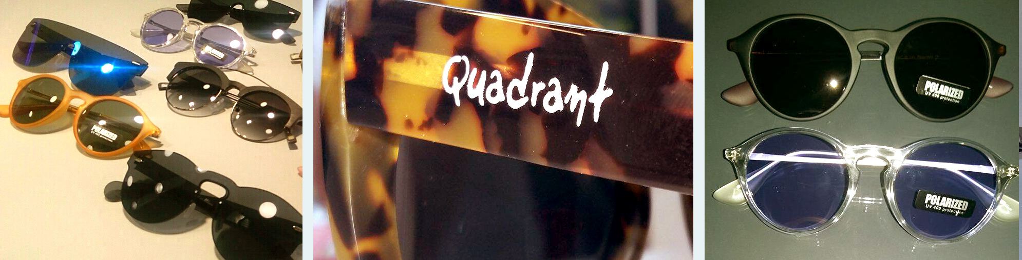 Quadrant eye glasses
